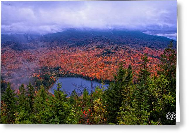 Heart Lake Greeting Card by Brad Hoyt