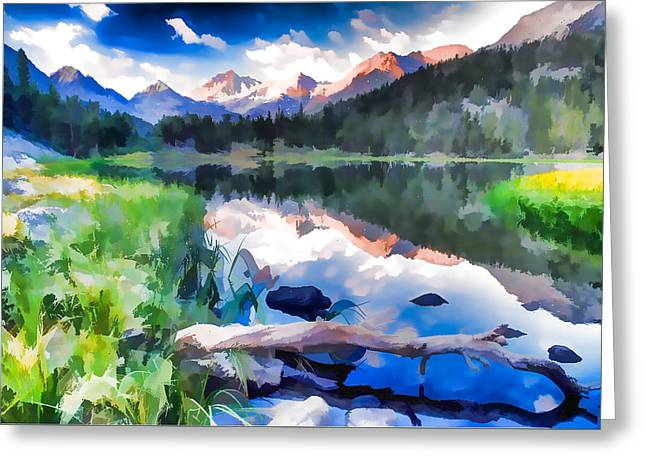 Heart Lake In Eastern Sierra Nevada Mountains Of California Greeting Card by Lanjee Chee