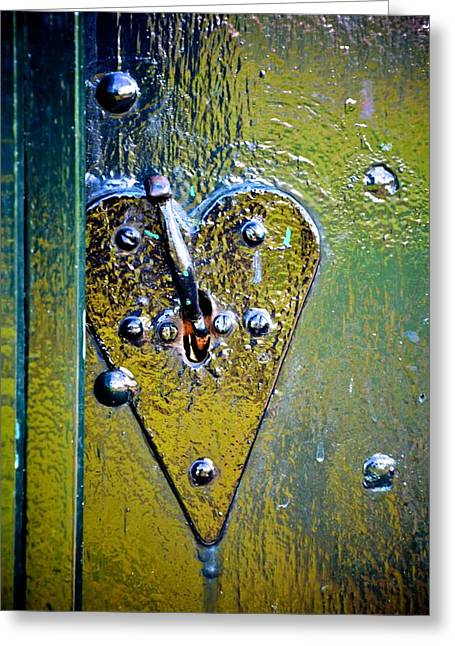 Heart Lock Greeting Card