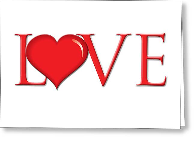 Heart Love Greeting Card by Greg Slocum