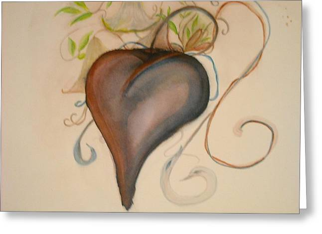Heart Of Flowers Greeting Card by Marian Hebert