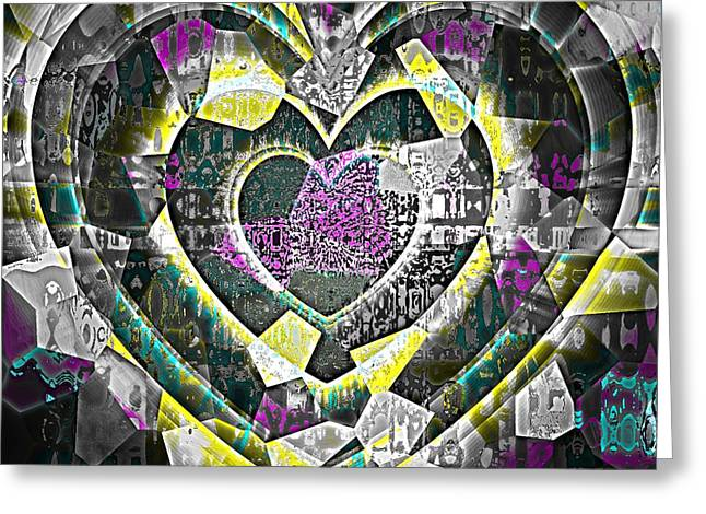 Heart Of Gold Greeting Card by Fania Simon