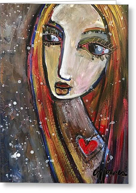 Greeting Card featuring the painting Heart Of Gold by Laurie Maves ART