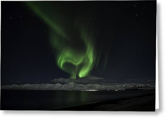 Heart Of Northern Lights Greeting Card by Frodi Brinks