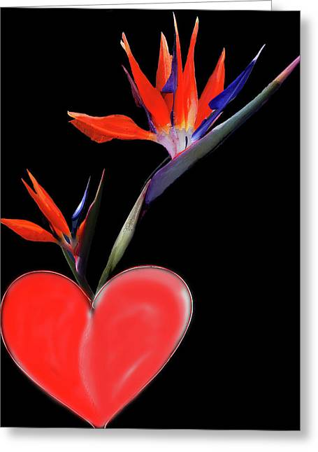 Heart  Of Paradise Greeting Card