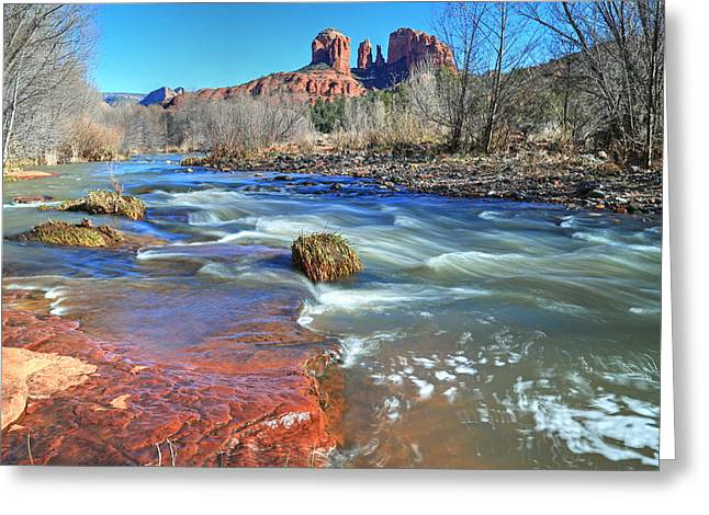 Heart Of Sedona 2 Greeting Card by Donna Kennedy