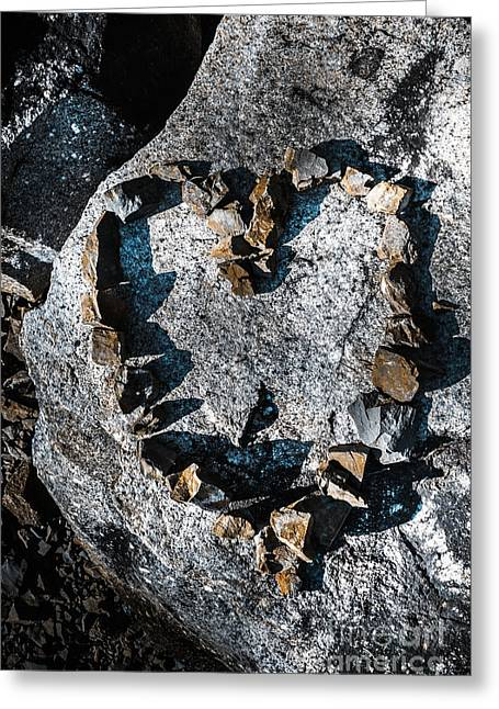Heart Of Stone Greeting Card by Jorgo Photography - Wall Art Gallery