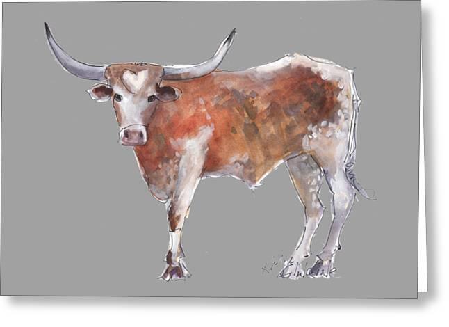 Heart Of Texas Longhorn Greeting Card