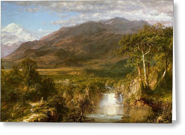 Heart Of The Andes Greeting Card by Frederic Edwin Church
