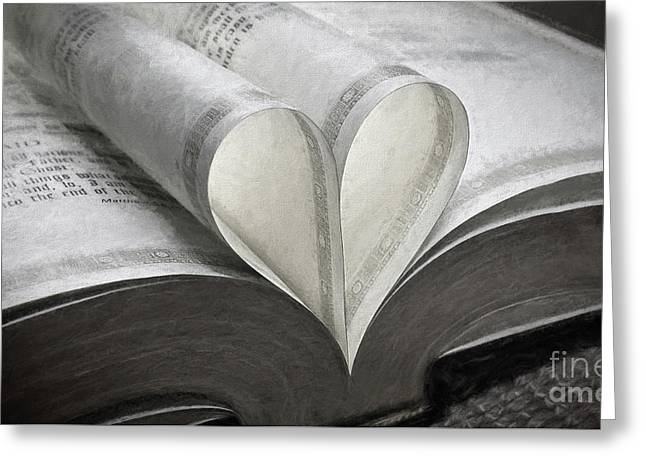 Heart Of The Book  Greeting Card