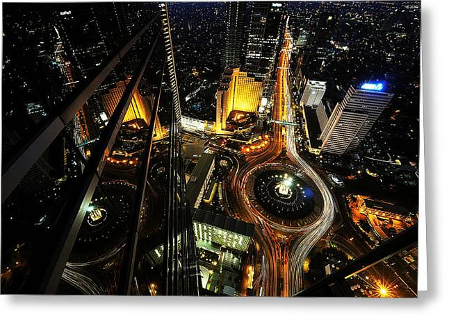 Heart Of The City Greeting Card by Hardibudi
