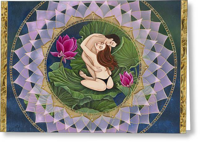 Heart Of The Lotus Greeting Card by Nadean O'Brien