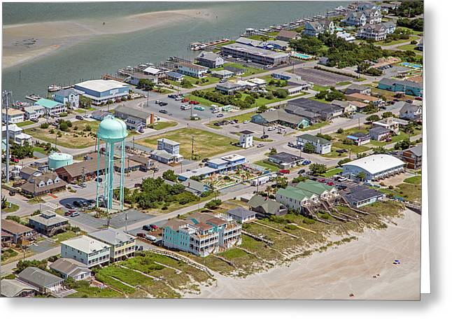 Heart Of Topsail Beach Greeting Card by Betsy Knapp