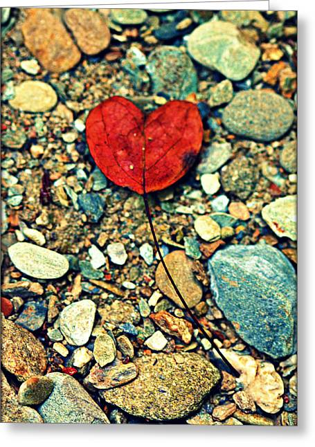 Gatlinburg Tennessee Greeting Cards - Heart on the Rocks Greeting Card by Susie Weaver