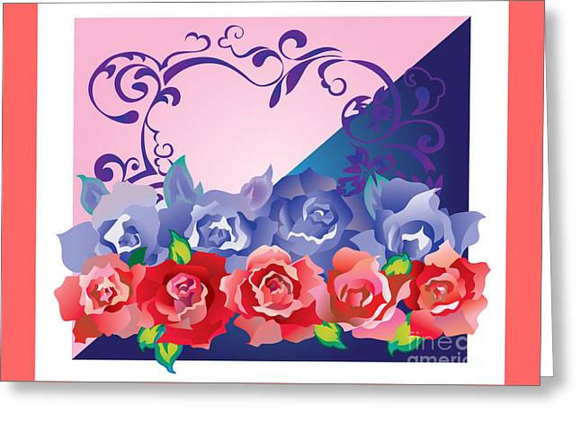 Greeting Card featuring the digital art Heart Post Card by Ariadna De Raadt