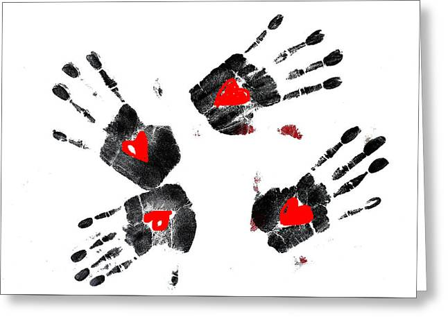 Heart Shape In  Hands Greeting Card