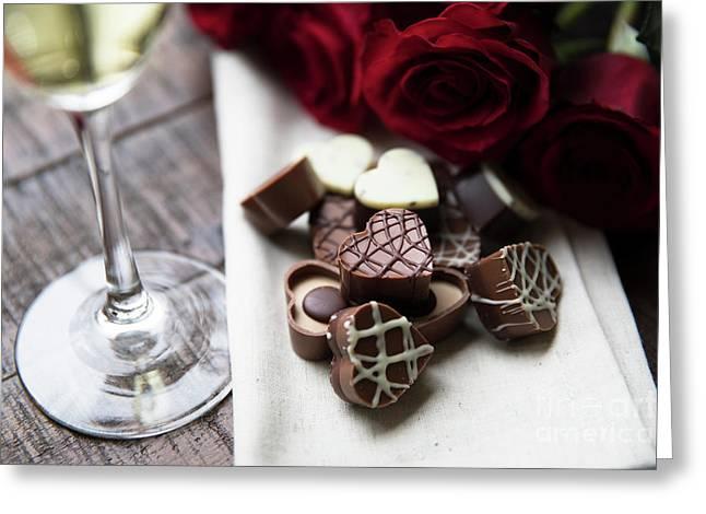 Heart Shaped Chocolates  Greeting Card