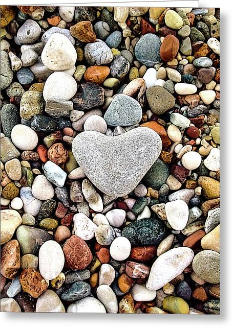 Heart-shaped Stone Greeting Card