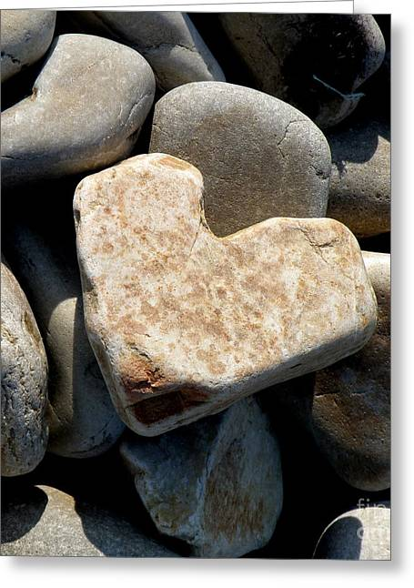 Heart Stone Greeting Card