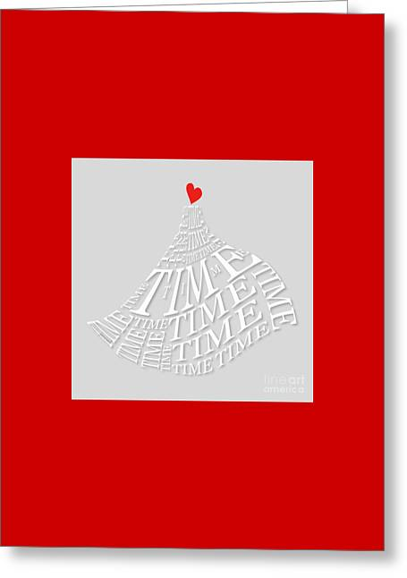 Yes Heart Time Greeting Card by Johannes Murat