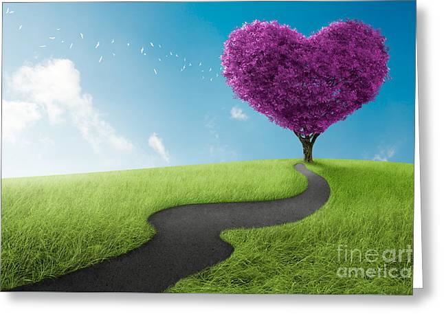 Heart Tree Greeting Card by Giordano Aita