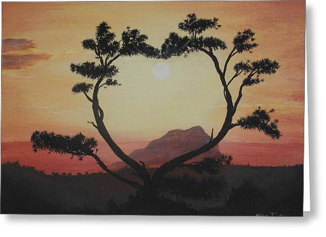 Heart Tree Greeting Card by Ken Day