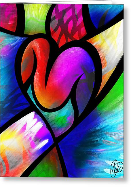 Heart Vectors Greeting Card