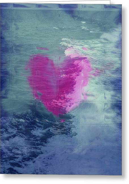 Heart Waves Greeting Card by Linda Sannuti
