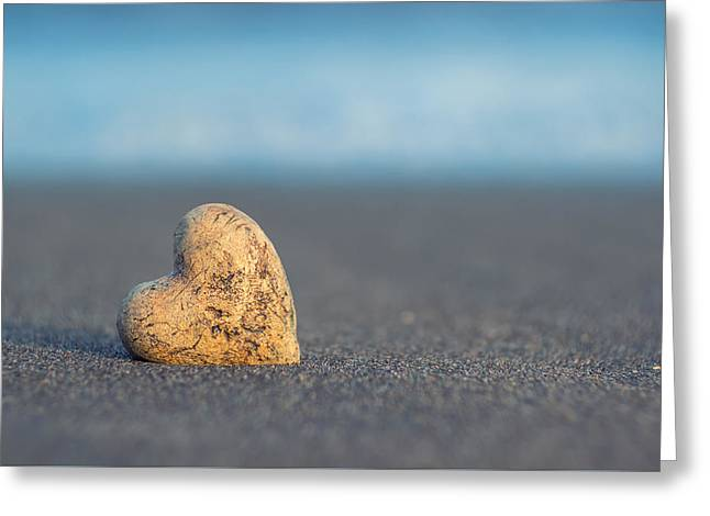 Zen Heart  Greeting Card by Stelios Kleanthous
