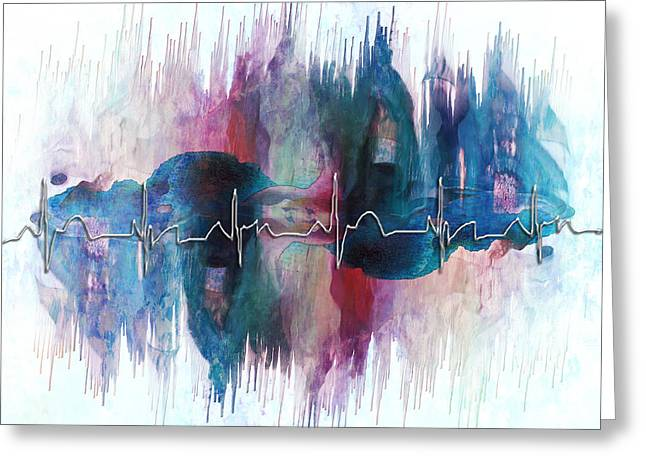 Heartbeat Drama Greeting Card