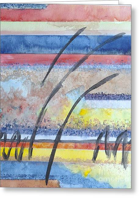 Greeting Card featuring the painting Heartbeat by Jacqueline Athmann