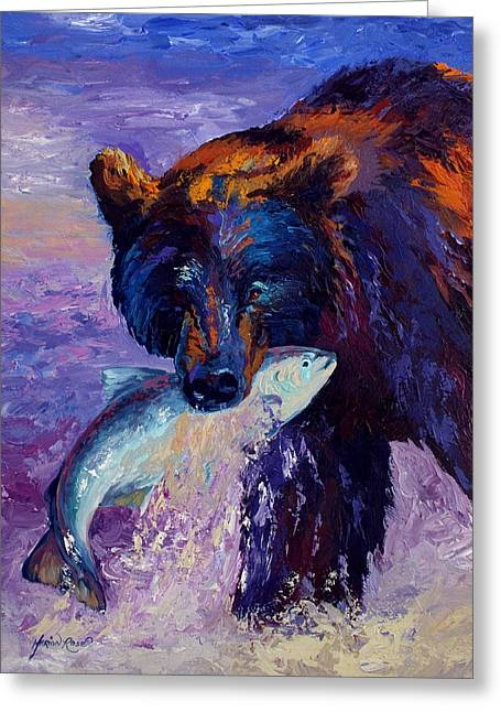 Denali Greeting Cards - Heartbeats Of The Wild Greeting Card by Marion Rose