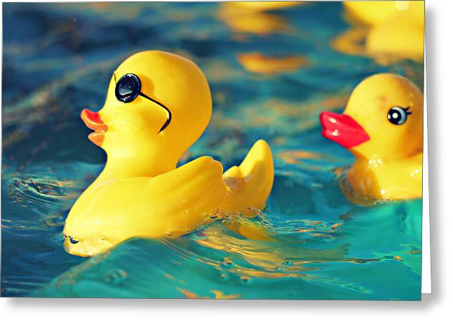 Rubber Ducky Greeting Cards - Heartbreaker Greeting Card by Amy Tyler