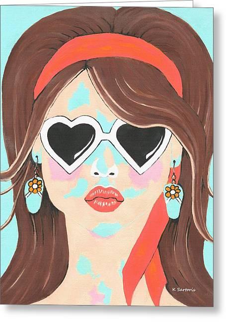 Heartbreaker - Contemporary Woman Art Greeting Card