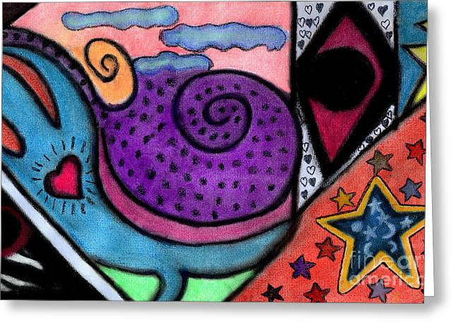 Greeting Card featuring the mixed media Heartfelt by Christine Perry