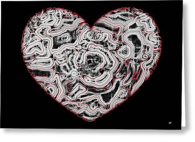 Heartline 1 Greeting Card by Will Borden