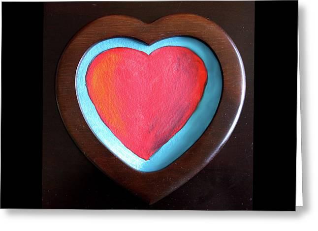 Hearts Afire Greeting Card