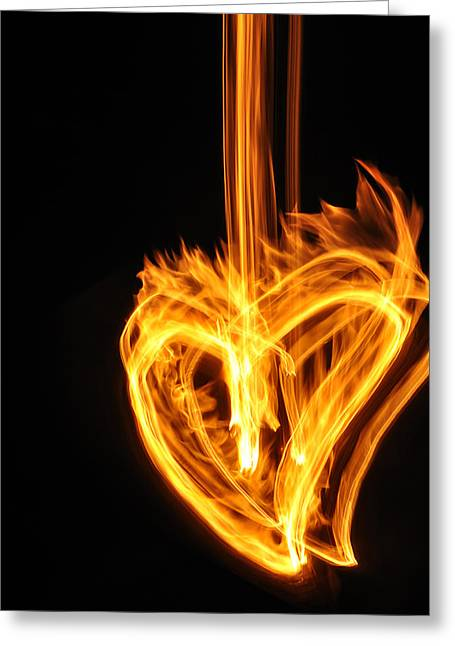 Hearts Aflame -falling In Love Greeting Card