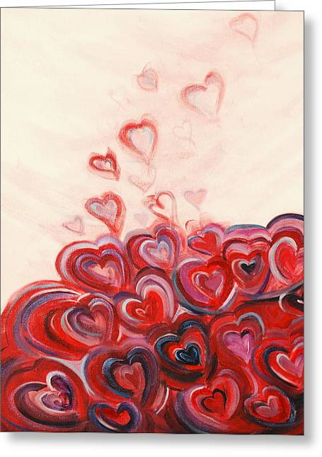 Hearts Given To God Greeting Card