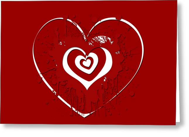 Hearts Graphic 1 Greeting Card by Melissa Smith