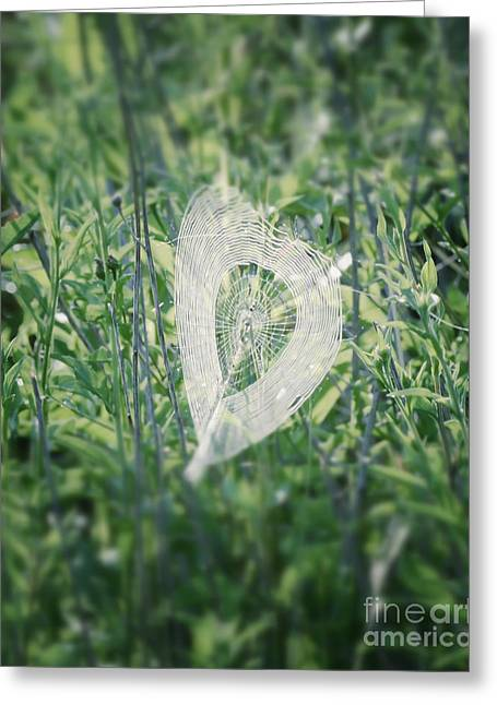 Hearts In Nature - Heart Shaped Web Greeting Card