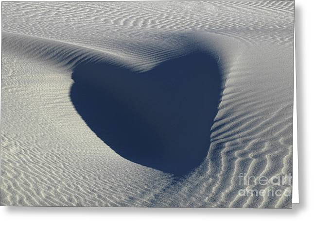 Hearts In The Desert Greeting Card by Vivian Christopher
