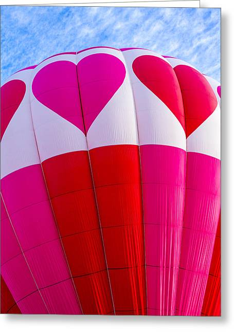 Hearts In The Sky Greeting Card by Teri Virbickis