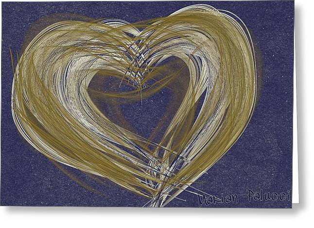 Hearts Of Gold Greeting Card by Marian Palucci-Lonzetta