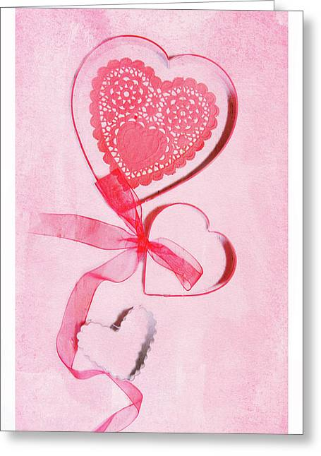 Greeting Card featuring the photograph Hearts by Rebecca Cozart