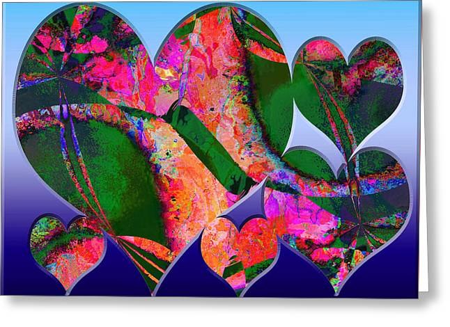 Hearts Together Greeting Card by Contemporary Art