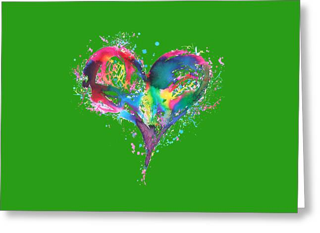 Hearts 6 T-shirt Greeting Card by Herb Strobino