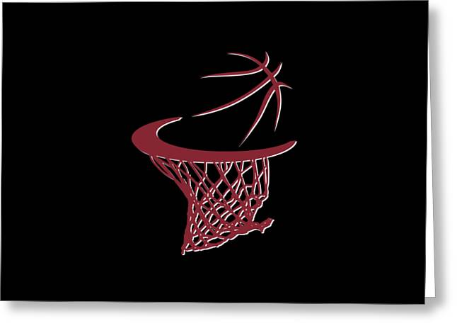 Heat Basketball Hoop Greeting Card
