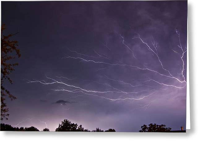 Photography Lightning Greeting Cards - Heat Lightning Greeting Card by Amber Flowers