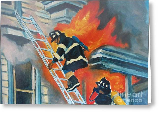 Heat Of The Moment Greeting Card by John Malone